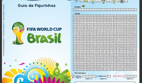 Controle de Figurinhas da Copa do Mundo Fifa 2014